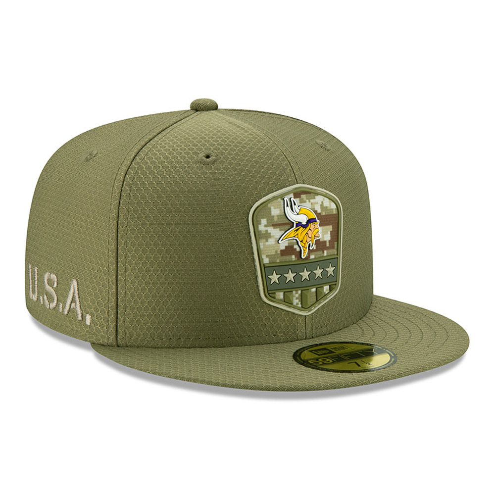 Minnesota Vikings Salute To Service Green 59FIFTY Cap