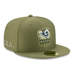 Los Angeles Rams Salute To Service Green 59FIFTY Cap