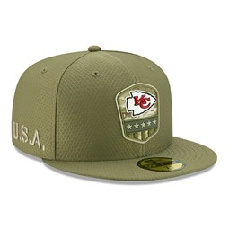 Kansas City Cap Chiefs Salute To Service Green 59FIFTY Cap