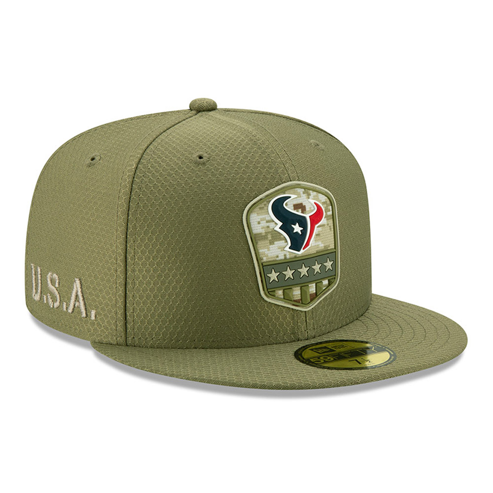 Houston Texans Salute To Service Green 59FIFTY Cap