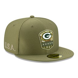 Green Bay Packers Salute To Service Green 59FIFTY Cap