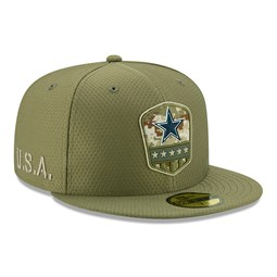 Dallas Cowboys Salute To Service Green 59FIFTY Cap