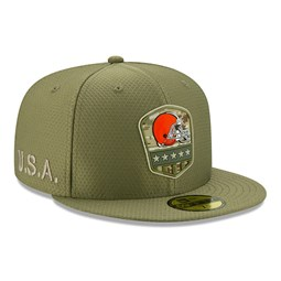Cleveland Browns Salute To Service Green 59FIFTY Cap