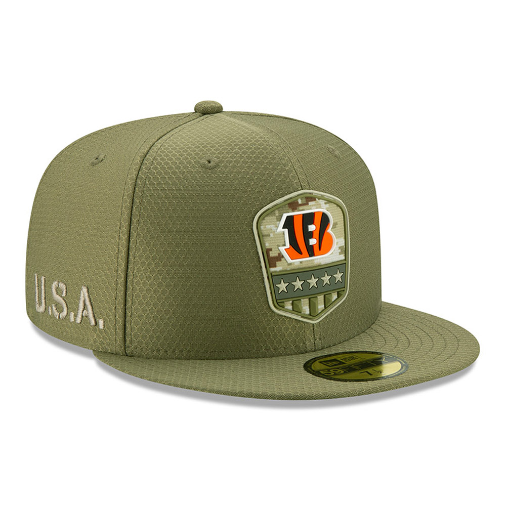 Cincinnati Bengals Salute To Service Green 59FIFTY Cap