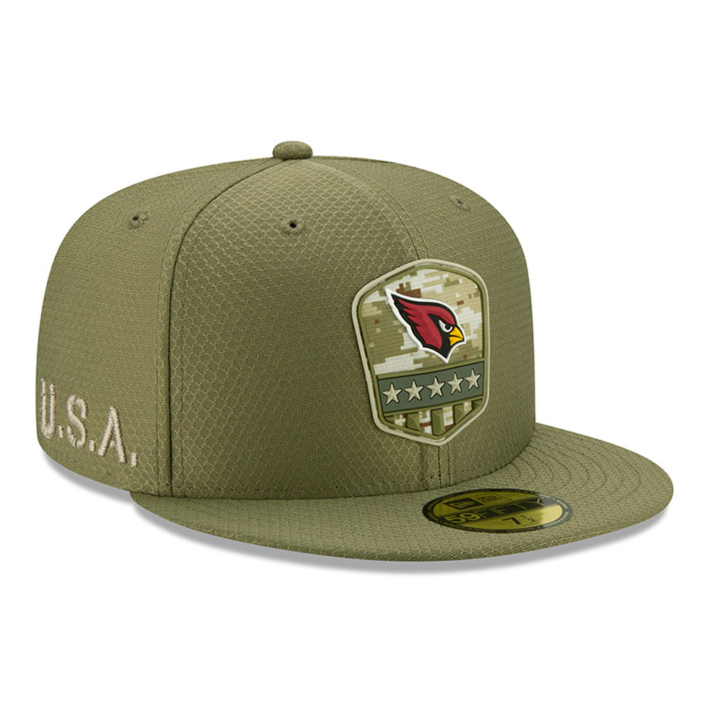 Arizona Cardianals Salute To Service Green 59FIFTY Cap
