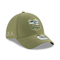 Seattle Seahawks Salute To Service Green 39THIRTY Cap