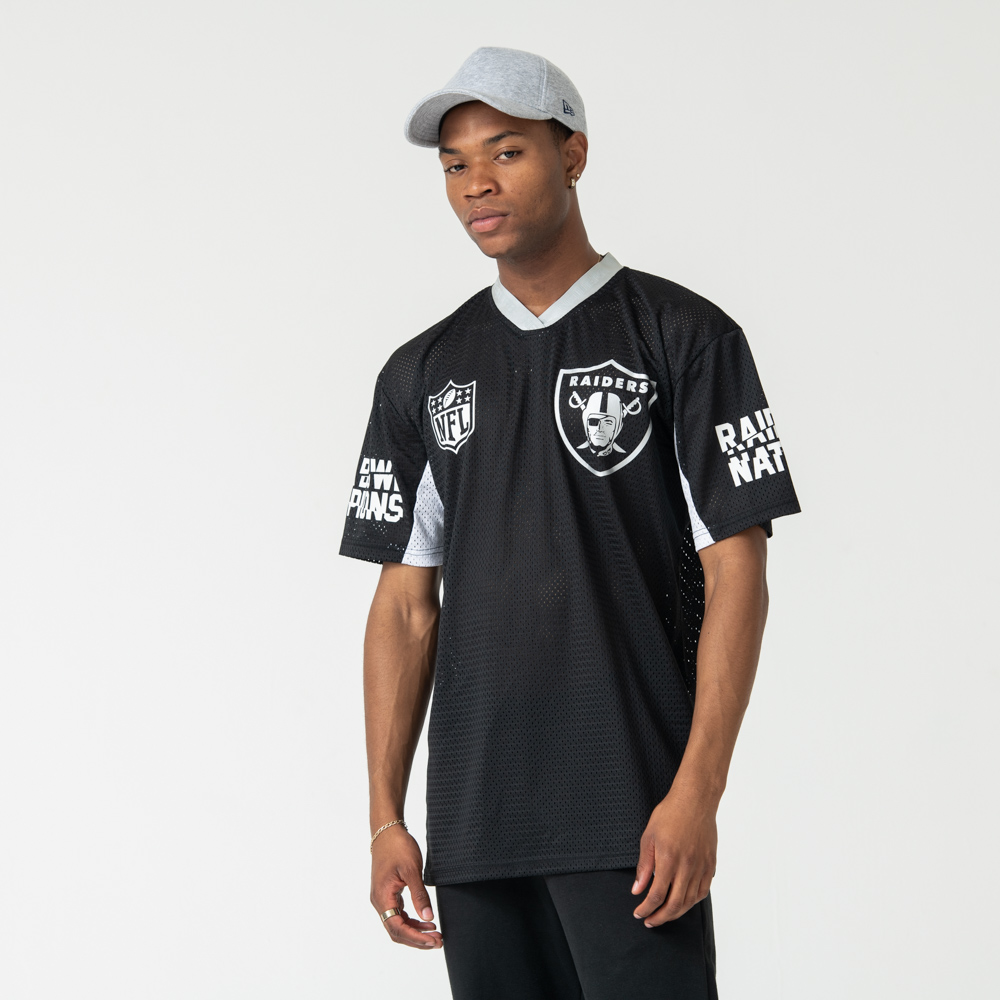 Oakland Raiders Black Oversized Tee