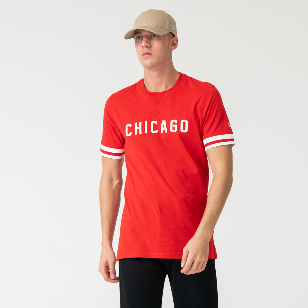 Chicago Bulls Wordmark Red Tee