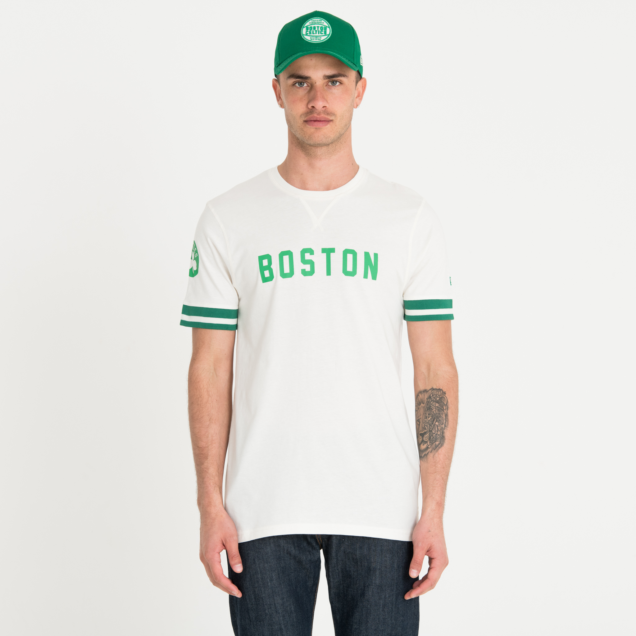 Boston Celtics Wordmark White Tee