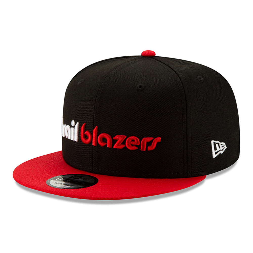 Portland Trailblazers Black Hard Wood Classic 9FIFTY Cap