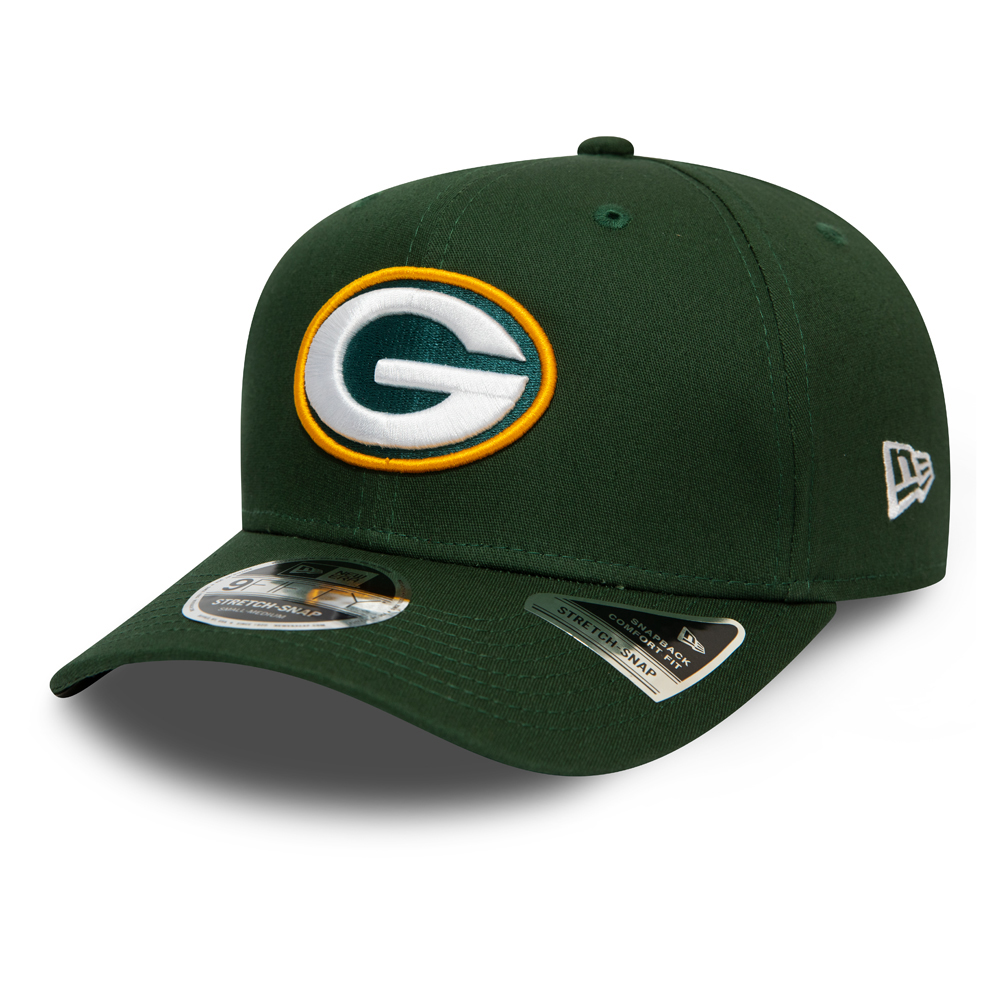 Green Bay Packers Green Stretch Snap 9FIFTY Cap