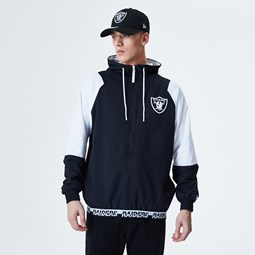 Oakland Raiders Colour Block Panel Windbreaker