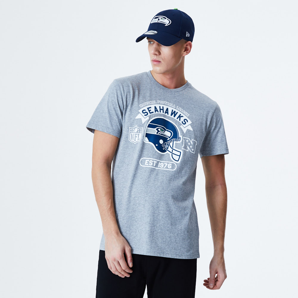 Seattle Seawhawks Helmet Grey T-Shirt