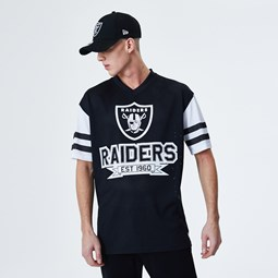 Oakland Raiders Contrast Sleeve Oversized Black T-Shirt