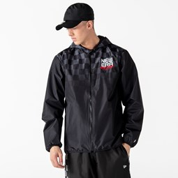 New Era Gradient Print Black Windbreaker