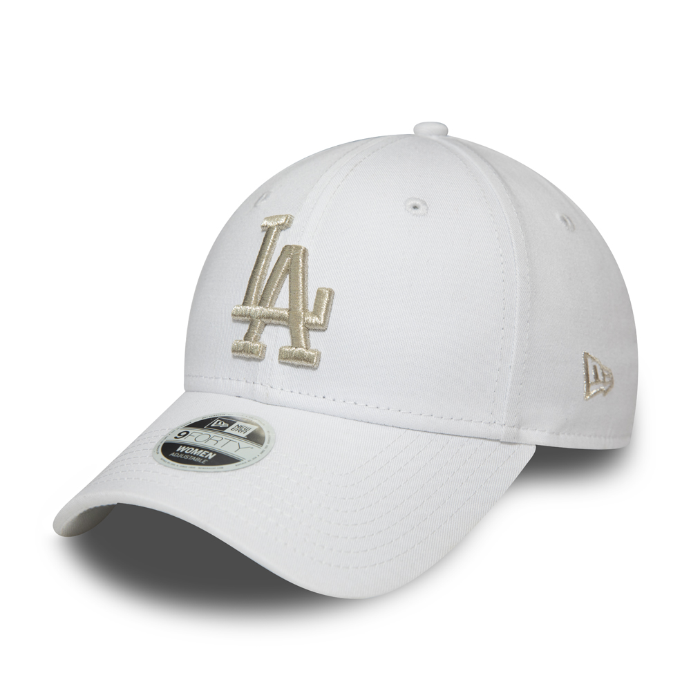 Los Angeles Dodgers Womens Metallic Logo White 9FORTY Cap