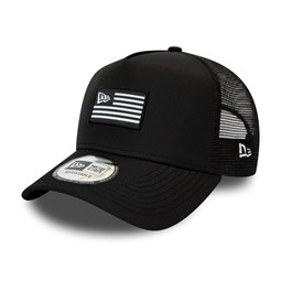 New Era Flagged Black A-Frame Trucker