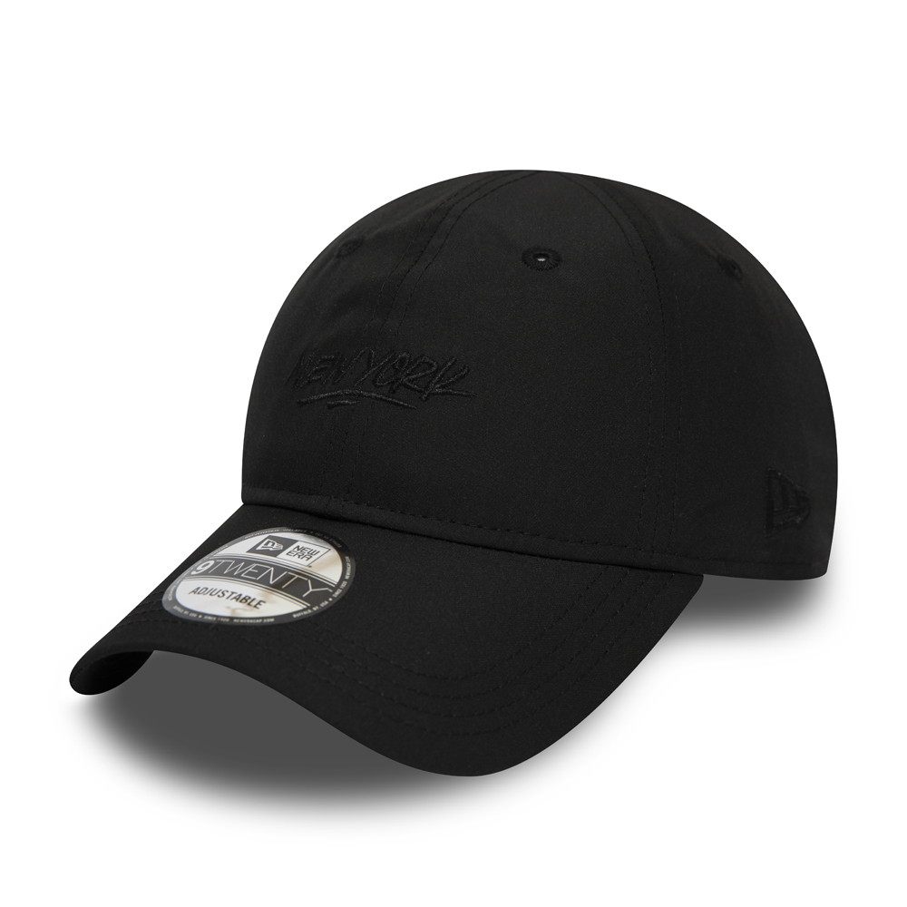 New Era New York Script Black 9TWENTY Cap