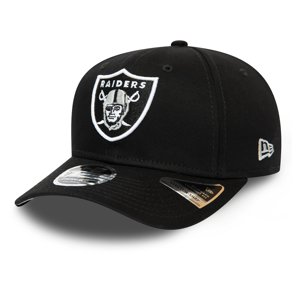 Oakland Raiders Black Team Stretch Snap 9FIFTY Cap