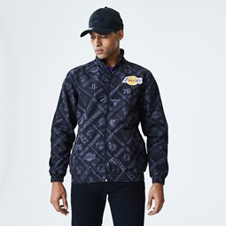 Los Angeles Lakers NBA Print Black Track Jacket