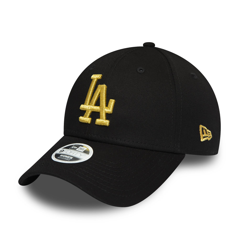 Los Angeles Dodgers Womens Gold Metallic Logo 9FORTY Cap