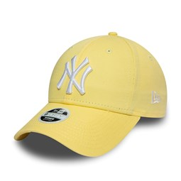 New York Yankees Womens Essential Pastel Yellow 9FORTY Cap