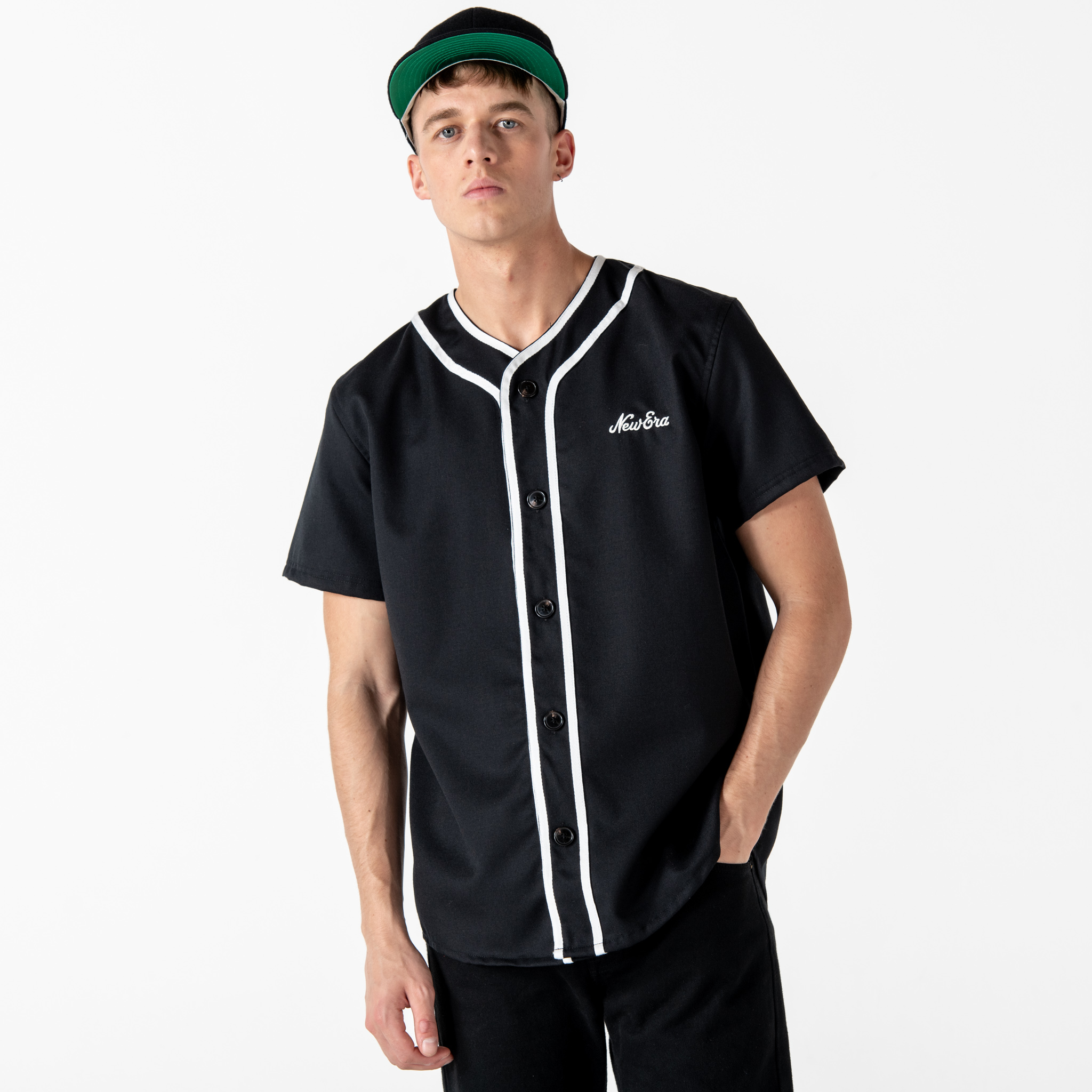 New Era Icons Black Baseball Jersey