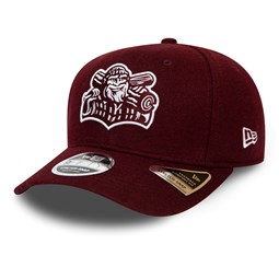 Williamsport Crosscutters Minor League Maroon Stretch Snap 9FIFTY Cap