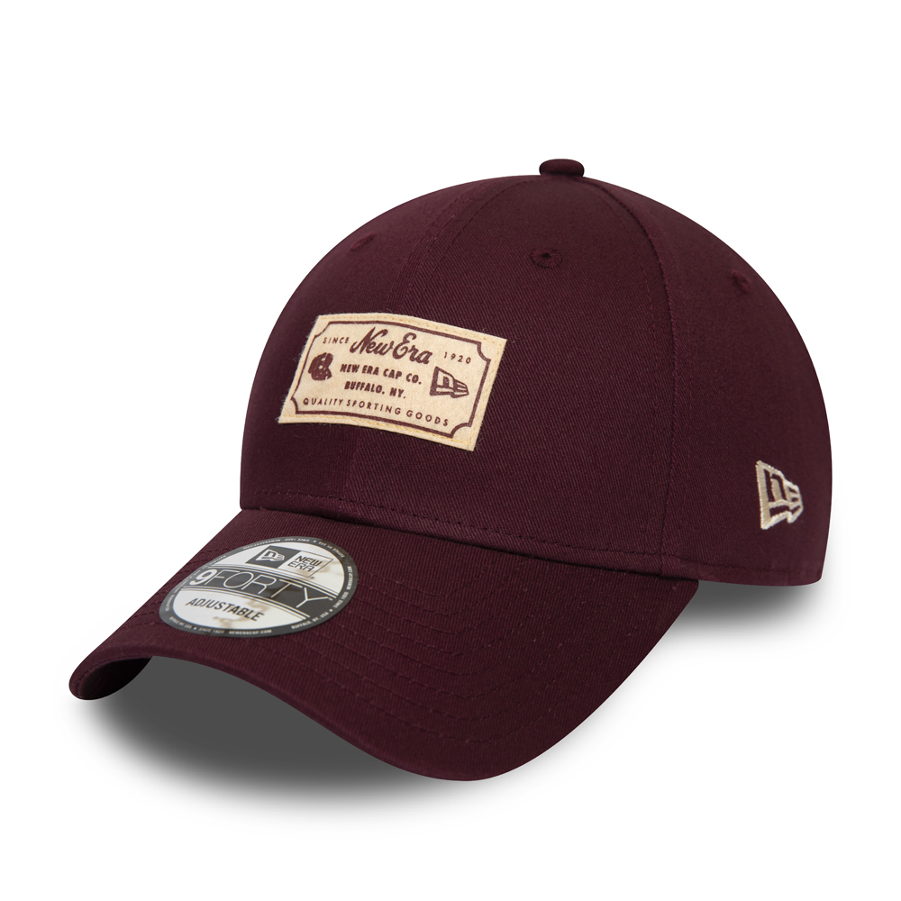 New Era Heritage Patch Maroon 9FORTY Cap