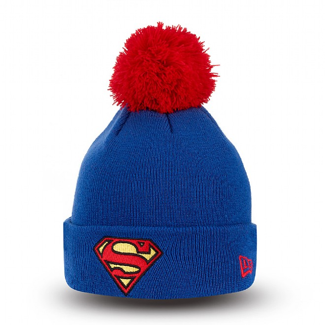 Superman Youth Blue Bobble Cuff Knit