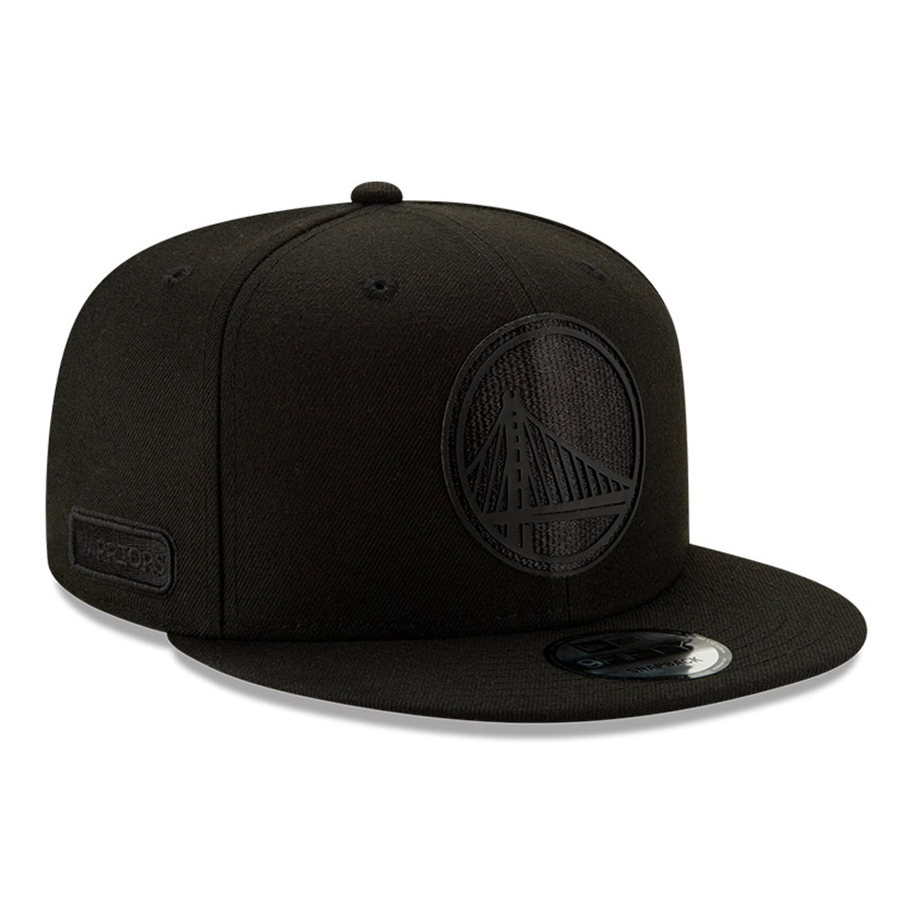 Golden State Warriors Back Half All Black 9FIFTY Cap