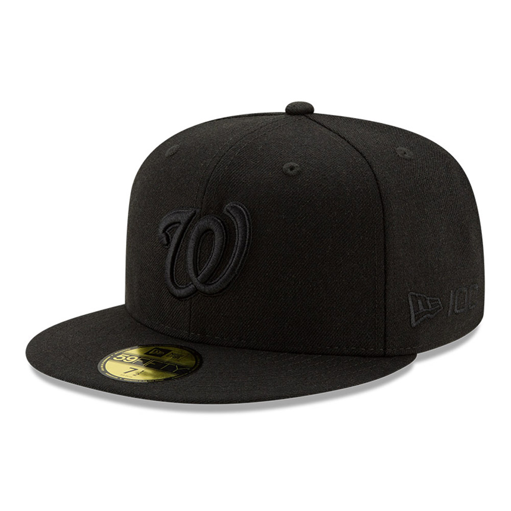 Washington Nationals 100 Years Black on Black 59FIFTY Cap