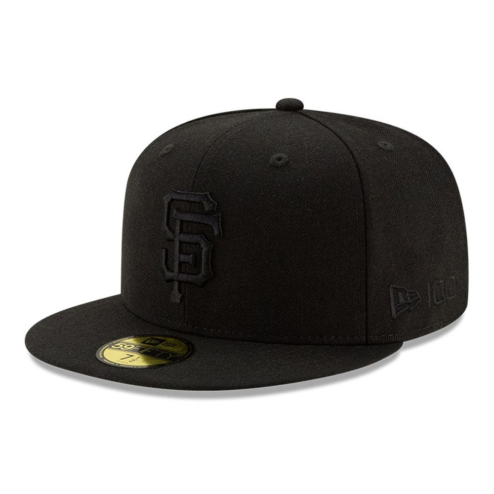 San Francisco Giants 100 Years Black on Black 59FIFTY Cap