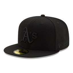 Oakland Athletics 100 Years Black on Black 59FIFTY Cap