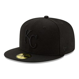 Kansas City Royals 100 Years Black on Black 59FIFTY Cap