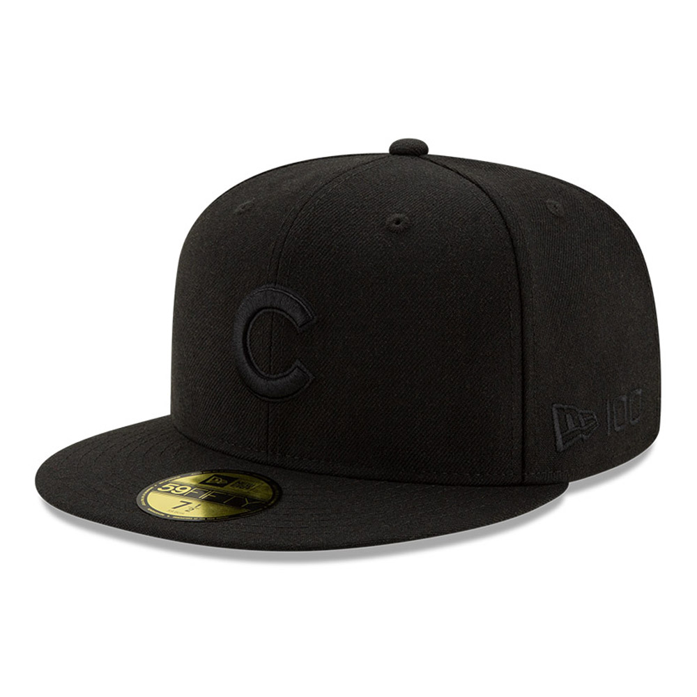 Chicago Cubs 100 Years Black on Black 59FIFTY Cap