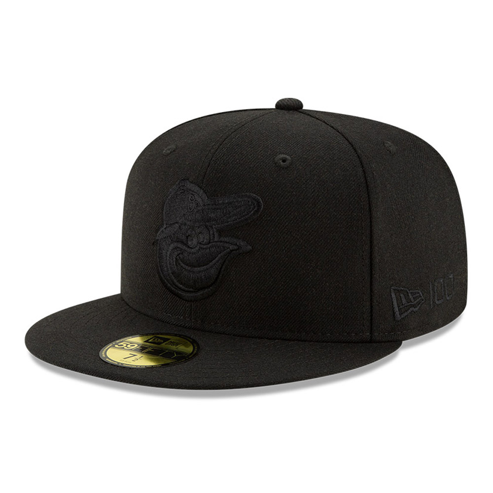 Baltimore Orioles 100 Years Black on Black 59FIFTY Cap