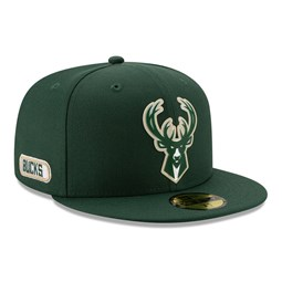 Milwaukee Bucks Back Half Green 59FIFTY Cap