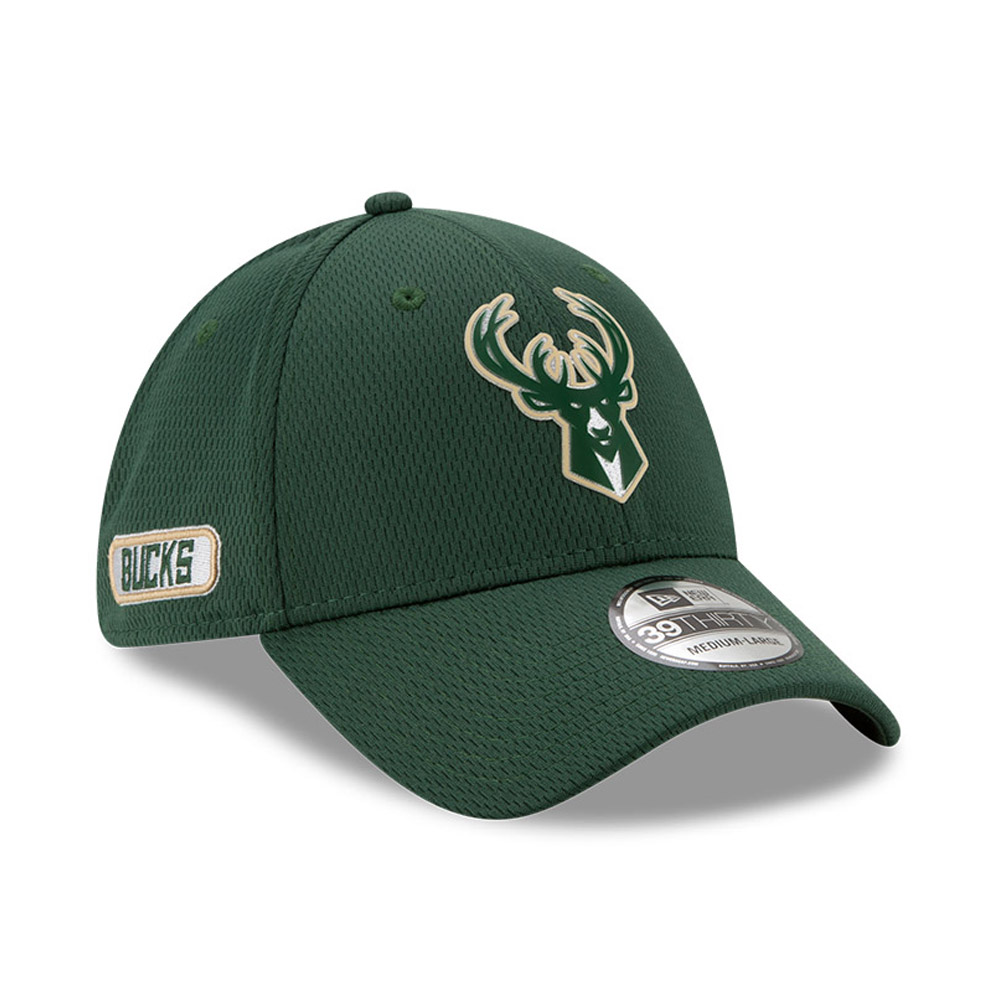 Milwaukee Bucks Back Half Green 39THIRTY Cap