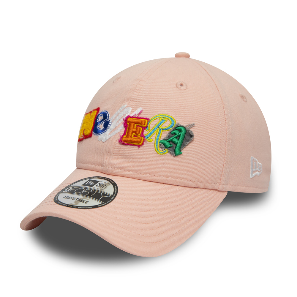 New Era Letter Patches Pink 9FORTY Cap