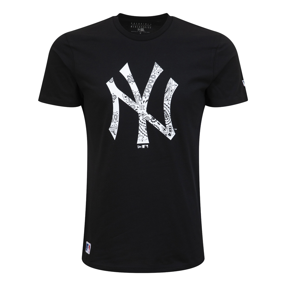 New York Yankees Paisley Print Monochrome T-Shirt