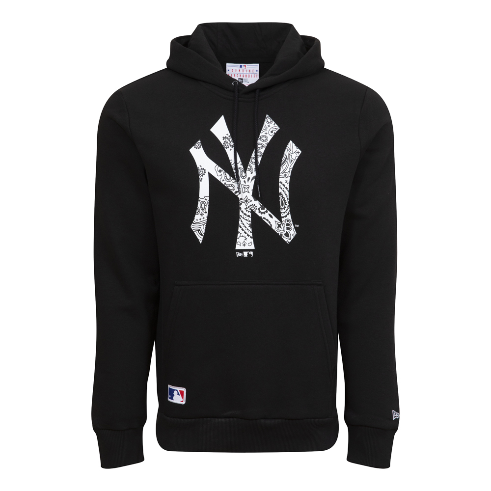 New York Yankees Paisley Print Black Hoodie