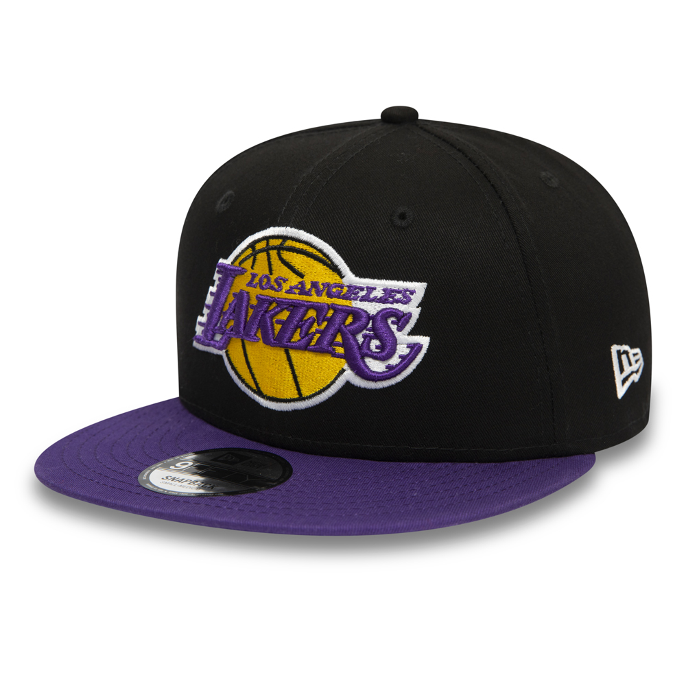 Los Angeles Lakers Black 9FIFTY Snapback Cap