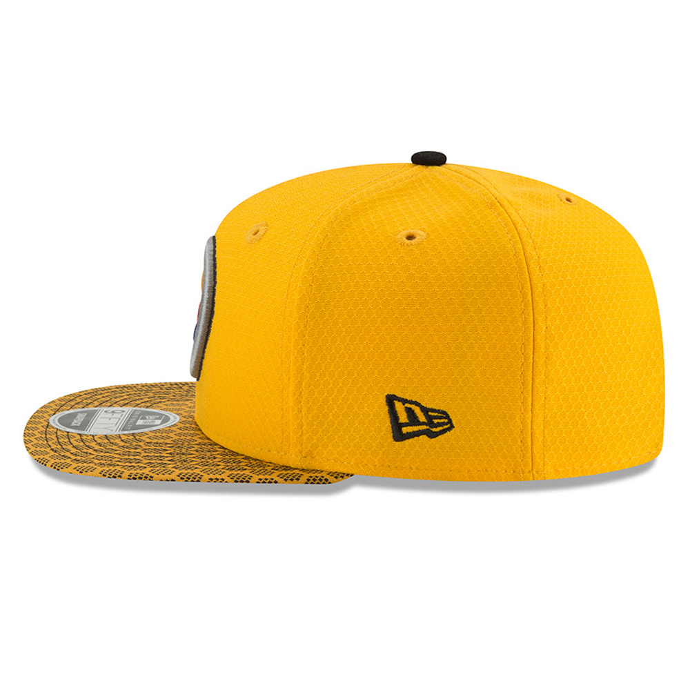 71a94069af5 ... Pittsburgh Steelers 2017 Sideline OF 9FIFTY Gold Snapback