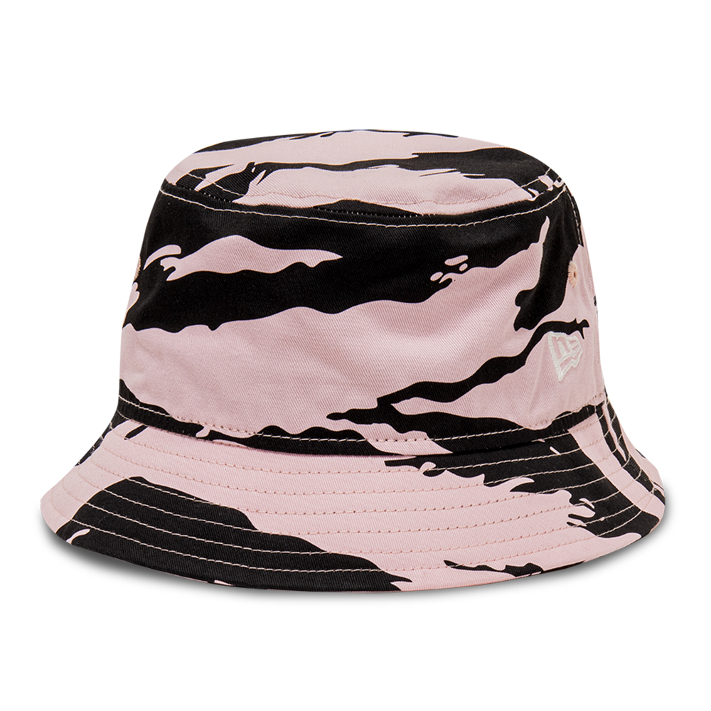 New Era Tiger Print Pink Bucket