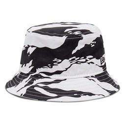 New Era Tiger Print White Bucket