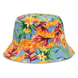 New Era All Over Floral Print Blue Bucket
