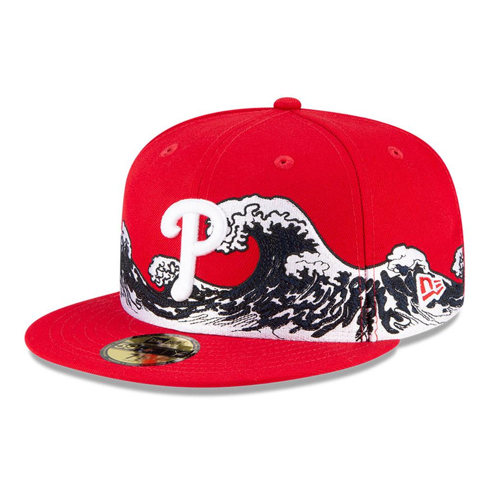 Philadelphia Phillies 100 Years Wave Red 59FIFTY Cap | New Era Cap