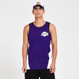 Los Angeles Lakers All Over Print Panel Purple Vest