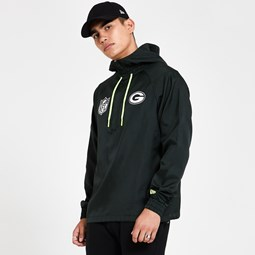 Green Bay Packers Black Windbreaker Jacket